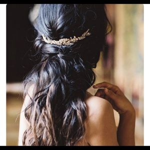 Hair Bling silver and pearl